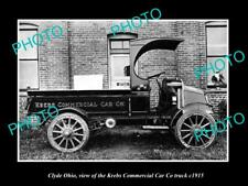 OLD LARGE HISTORIC PHOTO OF CLYDE OHIO, THE KREBS COMMERCIAL CAR Co TRUCK c1915