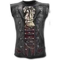 Spiral Direct GOTH WRAP - Allover Sleeveless T-Shirt Gothic/Skulls/Biker/Tee