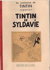 Tintin en Syldavie. Album broché de 20 pages n/blanc. Edition Klow 1995 PASTICHE