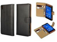 Luxury Genuine Leather Flip Case Wallet Cover For Sony Experia Z5/Z3/Z3mini/Z5+