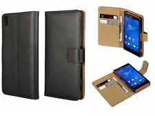 Luxury Genuine Leather Flip Case Wallet Cover For Sony Experia Z5/Z3/Z3mini/Z5+
