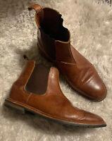 Men's Allen Edmonds Ashbury Brown Chelsea Boots Size 9.5