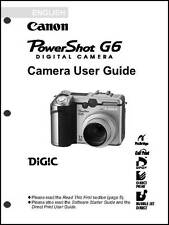 Canon Powershot G6 Digital Camera User Guide Instruction  Manual