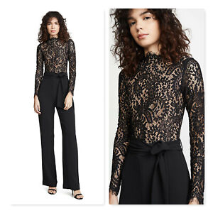 MISHA COLLECTION | Womens Allegra Lace And Crepe Jumpsuit [ Size AU 8 or US 4 ]