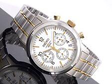 Seiko Classic Watch * SSB009 Chronograph 2 Tone Gold Silver Men 40MM COD PayPal