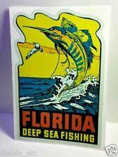 Florida Deep Sea Fishing Vintage Style Travel Decal / Vinyl Luggage Sticker