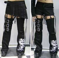 Punk Unisex Visual kei Rock fashion Nana short Pants+skirt+leg-warmers S-XXL