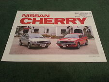 October 1982 / 1983 Model Nissan CHERRY - UK 8 PAGE COLOUR BROCHURE