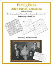 Family Maps Allen Parish Louisiana Genealogy Plat LA
