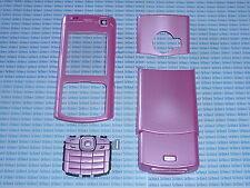 Cover copri batteria+tastiera+vetro vetrino per Nokia N70 rosa copribatteria
