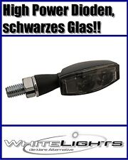 Schwarze LED Blinker Micro Miniblinker BLAZE 2 High Power Dioden smoked signals