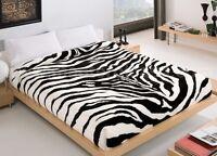 Copriletto Zebrato Morbidissima Coperta Matrimoniale Zebra Bianco-Nero Velluto