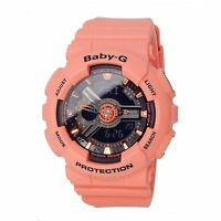 BA-111-4A2 Pink Casio Baby-G Ladies Watches Analog Digital Resin Band New