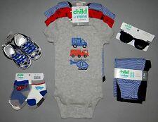 Baby boy clothes, 0-3 months, Carter's Child of Mine bodysuit,pants,socks,shoes