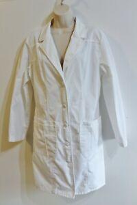 Cherokee Women's White Lab Uniform Jacket Coat Medical Scrub Size M