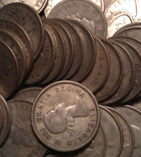 1937 TO 1966 CANADA SILVER 25 CENTS QUARTERS .800 SILVER 5 COINS PER QUANTITY