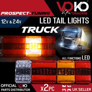 TRUCK LED 12V 24V Rear Tail Lights Brake Indicator Reflectors Trailer UK VKZI12