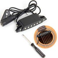Kmise Acoustic Guitar Soundhole Pickup Passive with Power Jack Parts SH-85 Black