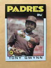 1986 Topps TONY GWYNN San Diego PADRES #10, QTY Available  HOFer