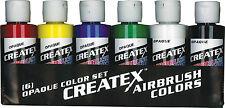 Createx kit 6 colori coprenti 60 ml per aerografo