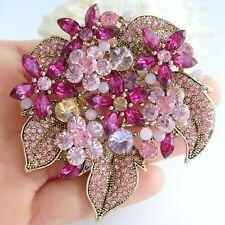 "Pendant Rhinestone Crystal Bp06029 Gorgeous 2.95"" Flower Brooch Pin"