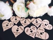 personalised hearts for wedding coat hangers bride,groom,bridesmaid,flowergirl