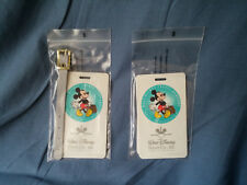 "Walt Disney Travel Company ""Where the Magic Begins"" Lot of 2 Luggage Tags"