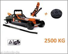 Cric 2,5 tonnes rangierwagenheber levage 80mm - 360mm NEUF 2500kg + caoutchouc