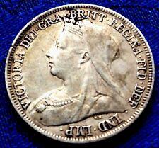 MONNAIE ANCIENNE ONE SHILLING 1899 REINE VICTORIA EN ARGENT  A VOIR!!!