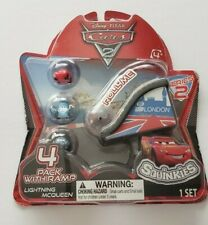 Disney Pixar Cars 2 Squinkies W/ Ramp Lightning McQueen