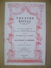 Theatre Royal Programme 1952- SHE STOOPS TO CONQUER by O Goldsmith