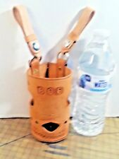 All Leather WATER BOTTLE Holster ~ For Work - Walkers - Bicyclers - leisure .
