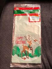 Christmas House Reindeer Tablecloth 54 in X 108 in New In Bag