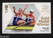 2012 SG 3342 1st GB Olympic Gold Medal Winners Glover & Stanning Rowing