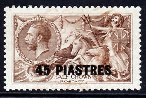 British Levant-1921.45 Piastres on KGv Seahorses. SG48. Very fine used.