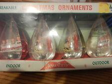 BOX VINTAGE JEWELBRITE 4 CHRISTMAS ORNAMENTS NATIVITY CHOIR FILLED HOLY FAMILY