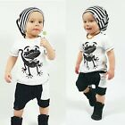 2pcs Toddler Infant Kids Baby Boy T-shirt Tops+Pants Trousers Outfit Clothes Set