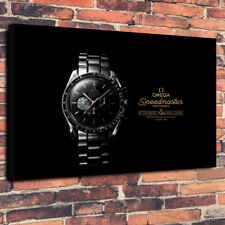 """Classic Vintage Watch Printed Canvas Picture A1.30""""x20"""" 30mm Deep Frame Man Cave"""