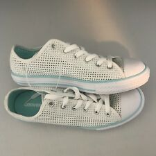 005ccdbb00a142 Youth Converse Casual Shoes Sneakers (Square Patterned Holes) White Size 5