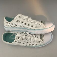 d53400142c1c Youth Converse Casual Shoes Sneakers (Square Patterned Holes) White Size 5
