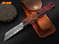 Custom handmade Razor Folding Knife Rosewood pocket knife