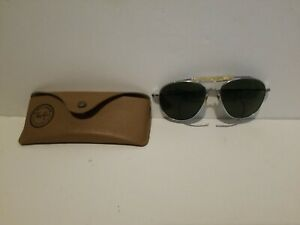 Vintage 1940s Bausch & Lomb Aviator Sunglasses