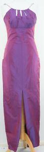 Vera Mont Purple Long Dress Size 36 Iridescent