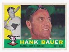 HANK BAUER 1960 Topps Baseball  # 262 Kansas City Athletics Ex Plus - NM