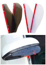 2X Black View Side Mirror Flexible Rain Board Visor Shad For Volkswagen