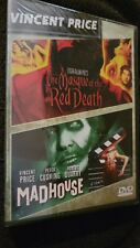 THE MASQUE OF RED DEATH + MADHOUSE 1974 - VINTAGE HORROR DOUBLE FEATURE DVD