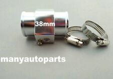 SILVER 38mm Aluminium Water Temperature Temp Sensor Guage Adapter + Clamps