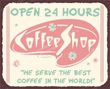 (VMA-L-6587) Coffee Shop Diner Vintage Metal Art Coffee House Retro Tin Sign
