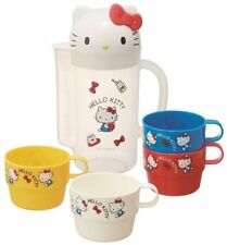 Hello Kitty Water Bottle Pitcher 850ml w/ Stacking 4 Cups New Sanrio