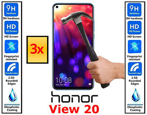 3x Genuine 100% TEMPERED GLASS Screen Protector Cover For Huawei Honor View 20